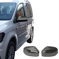chrome rearview mirror cover cap car mirror cover car styling for volkswagen caddy matt abs chrome 2015 2016 2017 2018 2019 2020