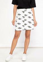 DeFacto Woman Autumn Cool Letter Prints Skirts Women Stylish White Mini Skirts Female A-LINE Woven Skirt-J7872AZ18AU