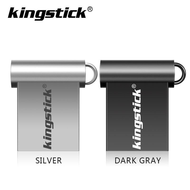Kingstick 2.0 mini movimentação do flash de usb 64gb 32gb 16gb pen drive pendrive metal impermeável prata u disco memoria mini usb2.0 vara