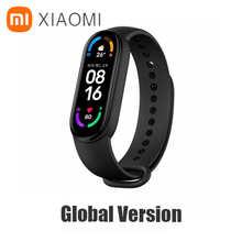 Оригинальный спортивный браслет Xiaomi Mi Band 6, фитнес-трекер с пульсометром, Bluetooth, смарт-браслет с AMOLED экраном 1,56 дюйма, 5 цветов