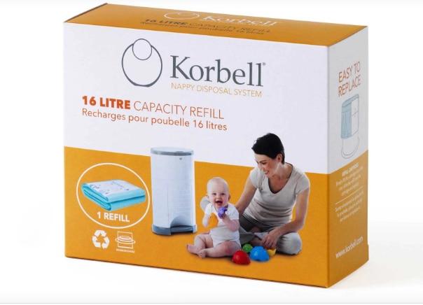 Bolsa de basura Korbell 495, pañal para bebé sucio, capacidad