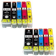 10 cartuchos de tinta Modelo 33XL 33 XL T3351 T3361 T3362 T3363 T3371 Compatível com epson impressoras XP-830 XP-900 XP-640