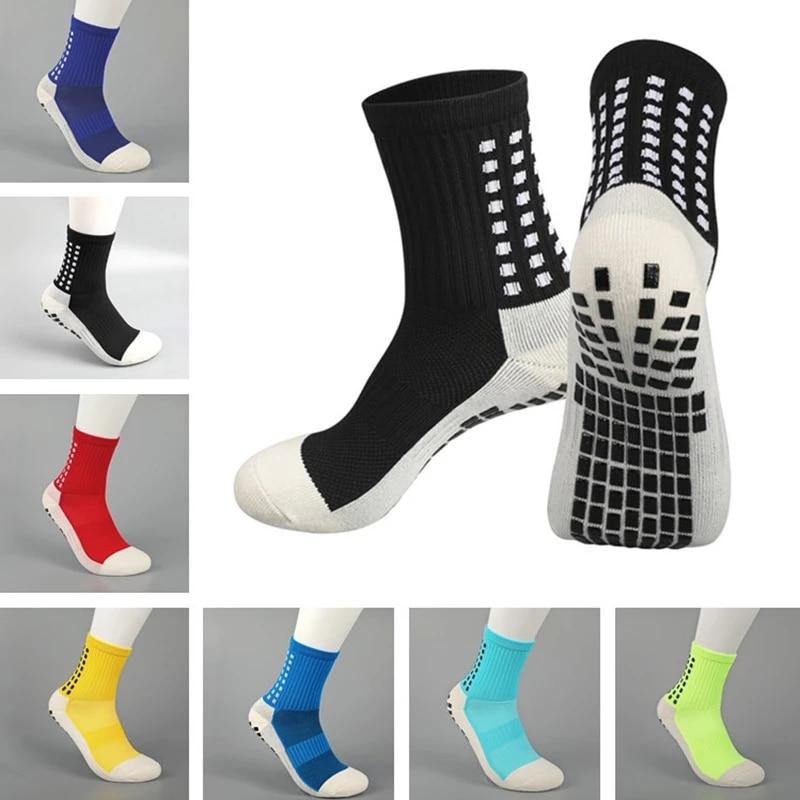 Профессиональные новые спортивные Нескользящие хлопковые футбольные носки, мужские футбольные носки, велосипедные футбольные носки для м...