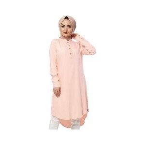 Hijab World Button Araboy Hijab Tunik TSD1044 Powder
