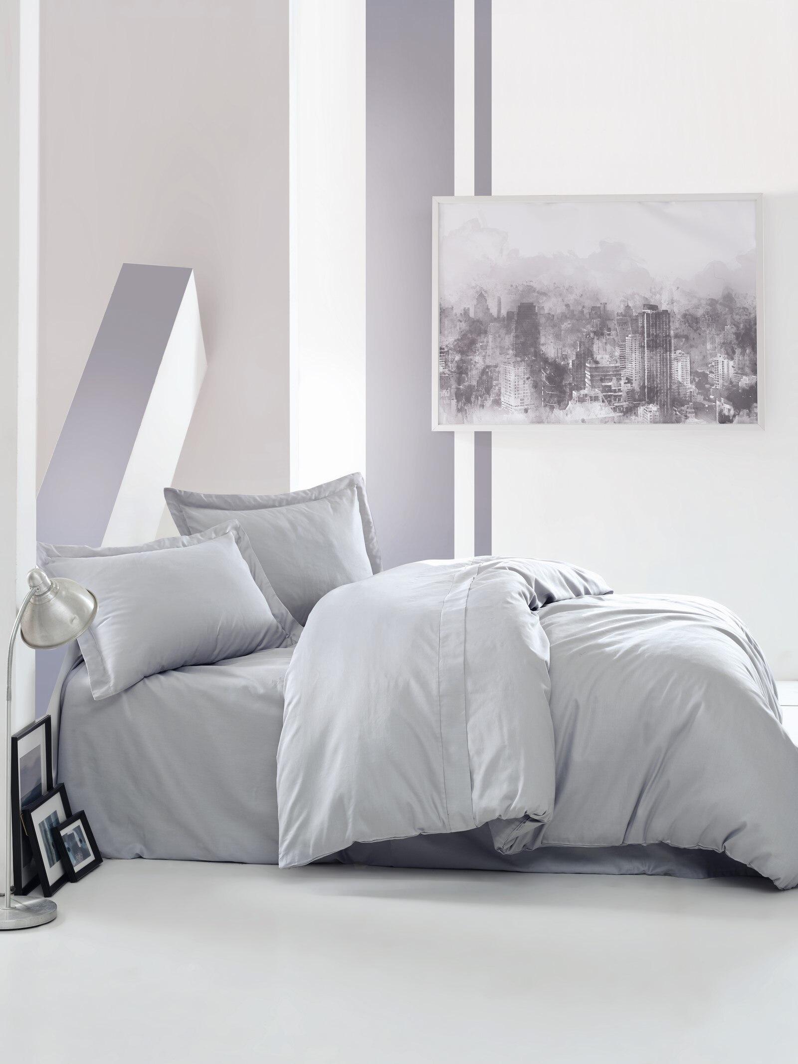 طقم أغطية سرير من الساتان الخالص 100% قطن ، صندوق قطني ، مفرش سرير ، غطاء لحاف ، ملاءة مسطحة ، غطاء وسادة ، بالجملة