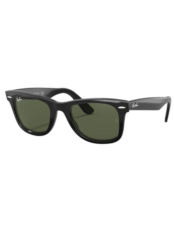 Rayban 2140 901 50 Wayfarer Model Sunglasses Black Frame G-15 Green Lenses High Quality Vision Unise