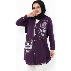Hijab World Shirt T-Shirt Suit TSD4939 Purple