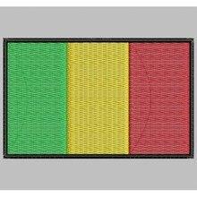 Bandera MALI para mascarilla parche bordado Iron patch toppa ricamata gestickter patch patch brode