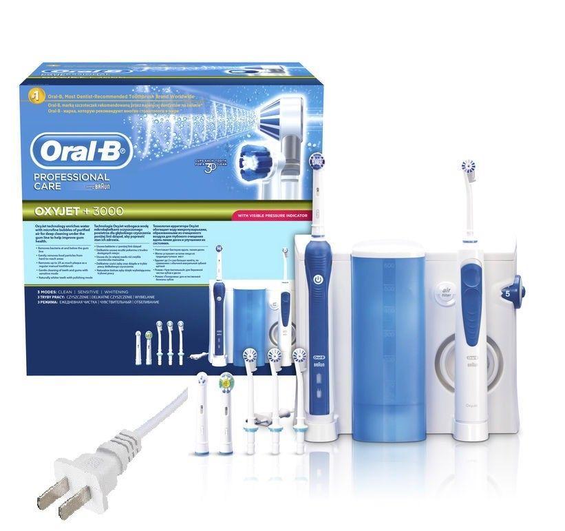 Cepillo de dientes 3000 Original de EE. UU. De cuidado profesional Oral-B + irrigador OxyJet oc20