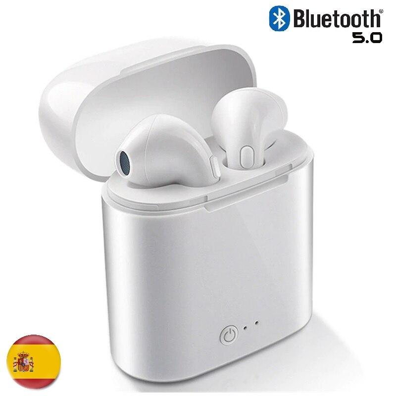 Bluetooth earphones 5.0 wireless WiFi Mini sports Compatible with ALL Universal phone earphone White