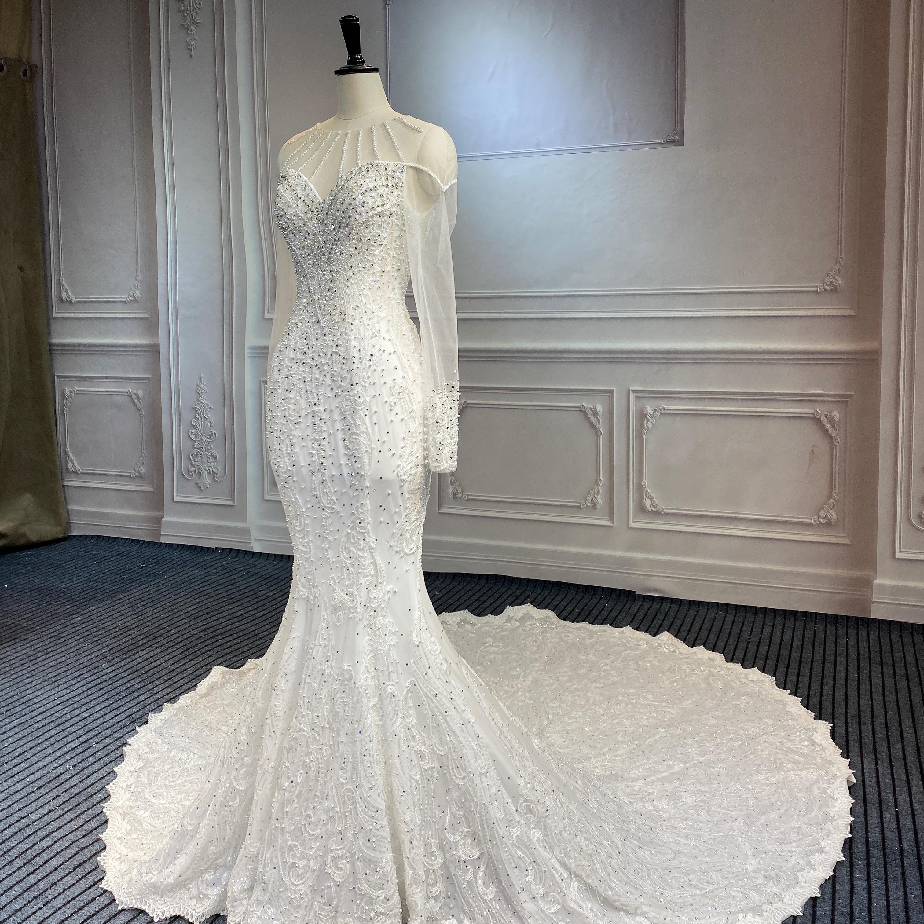 Marnham New Design Full Beads and Diamonds Mermaid Wedding Dress Bridal Dresses