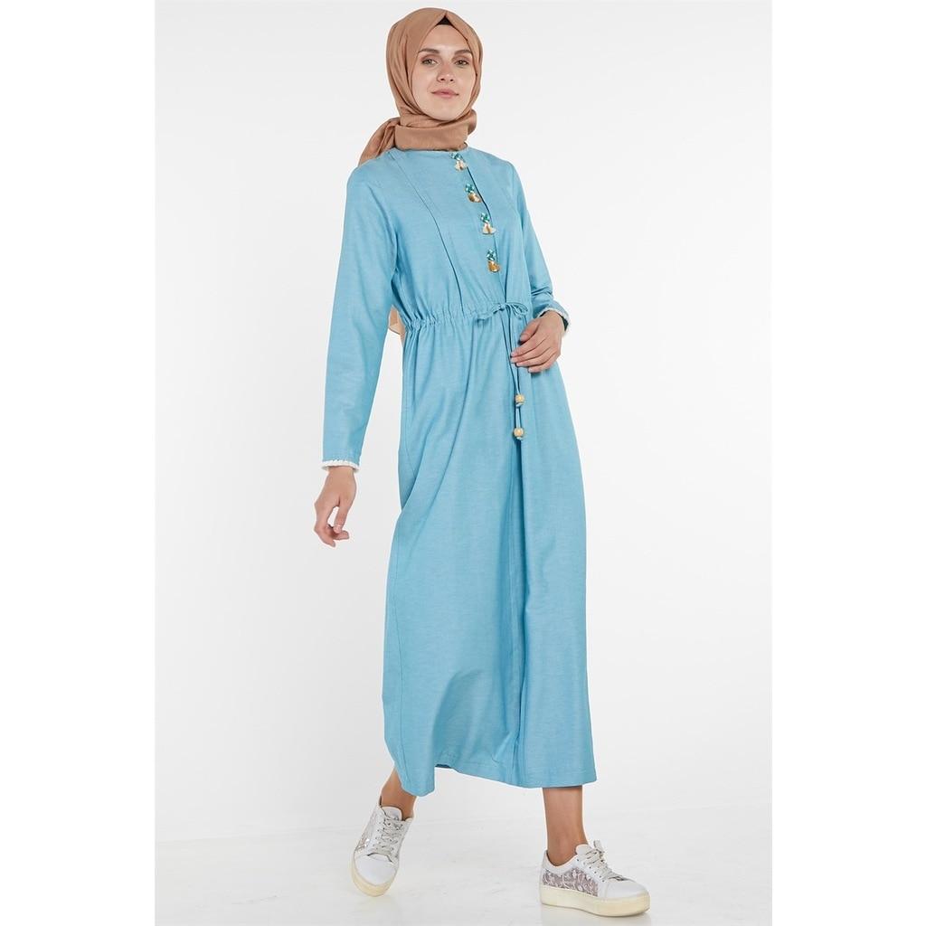Armine detalle de borla vestido menta 9 Y9769