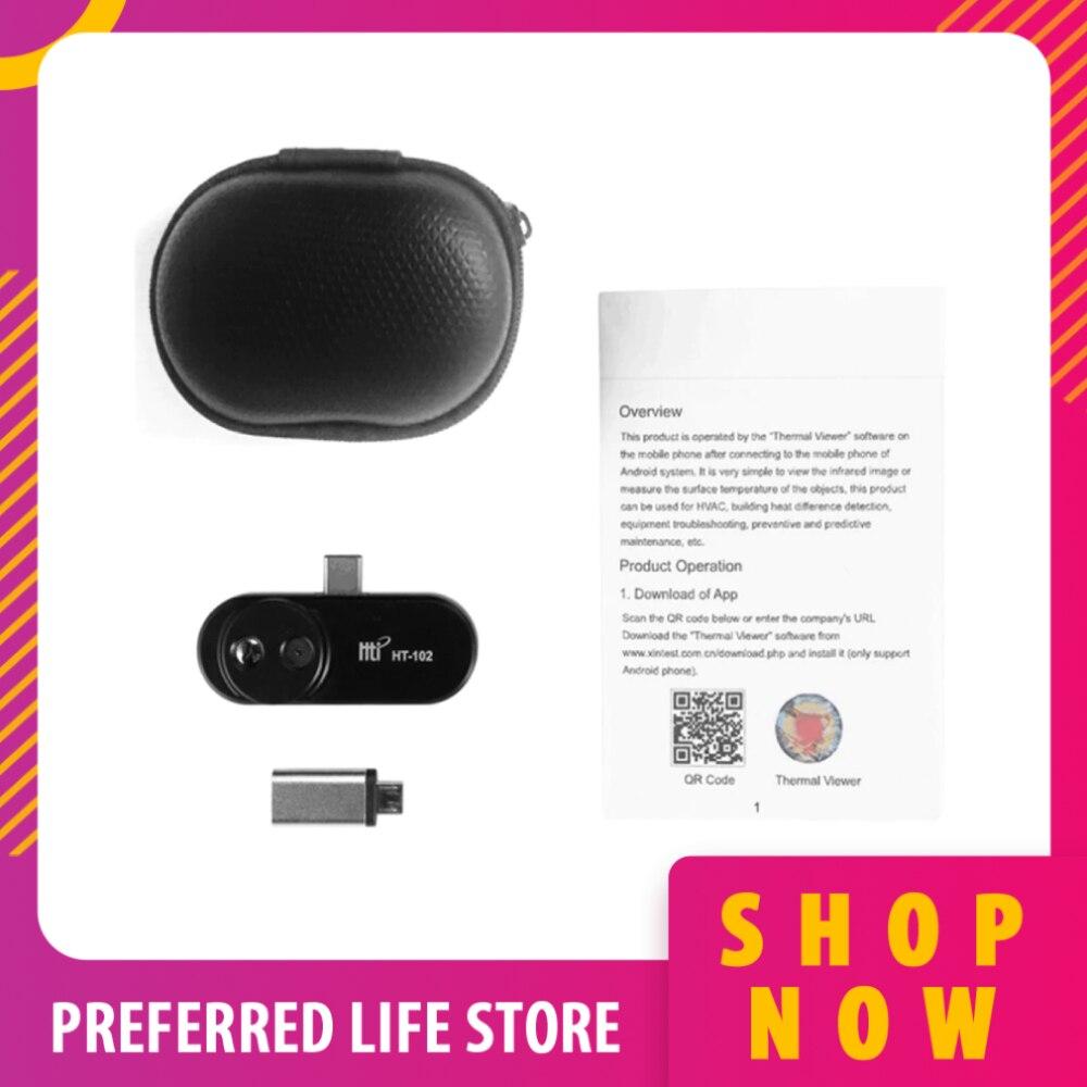 Câmera de Imagem Térmica do Telefone Ht-102 para Android Flir Móvel Infravermelho Imager Otg Características Instrumento Térmico um Pro