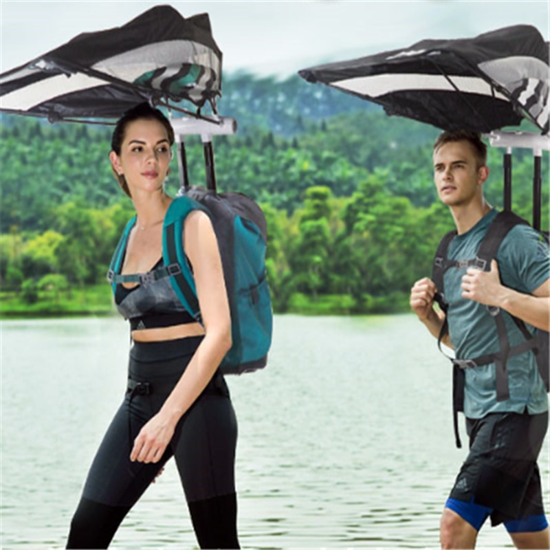 Рюкзак-зонтик Smart Sunshade Shoulder Большая емкость Открытый Bluetooth-динамик NATURE WALK RAIN SNOW SUN PROTECTION BAG UMBRELLA