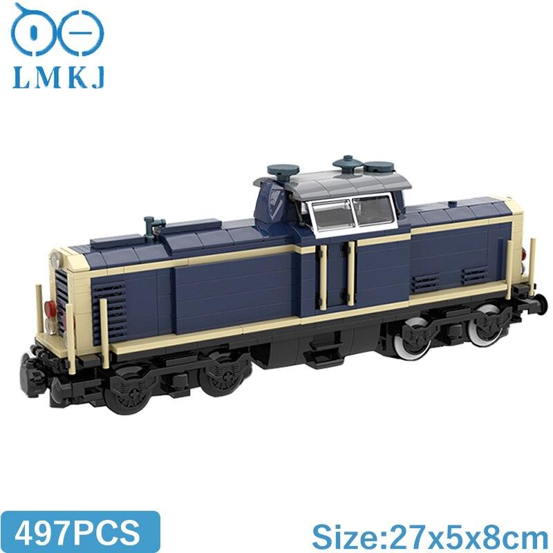 Военная серия MOC V100 немецкий локомотив Железнодорожный трек строительные блоки Diy Кирпичи обучающие игрушки для детей Подарки