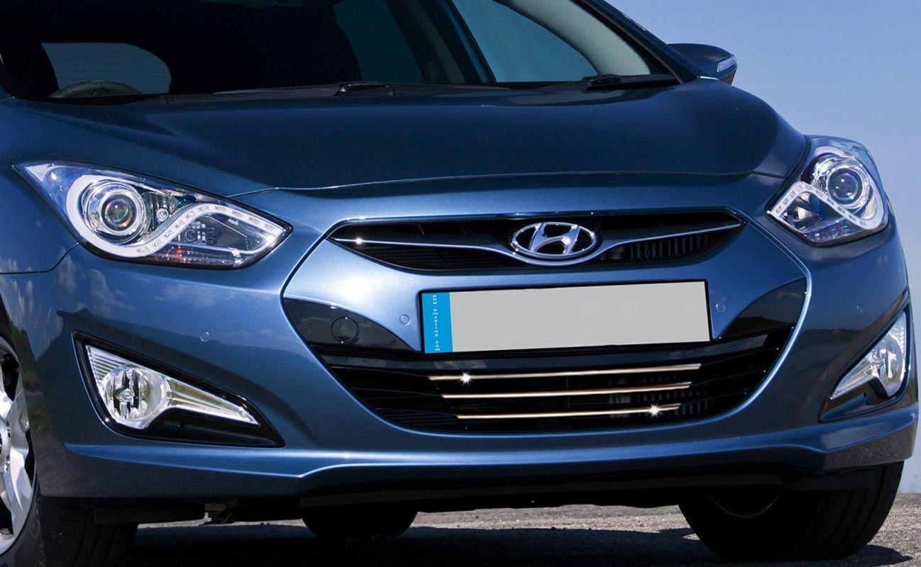 Hyundai i40 Chrome Front Grille 3 Piece Stainless Steel Sw (2011-)