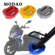 Per SYM JOYRIDE S 200 I ABS JOYRIDES200 alluminio di CNC Del Motociclo cavalletto Laterale piastra per estendere estensione Basamento di Scossa