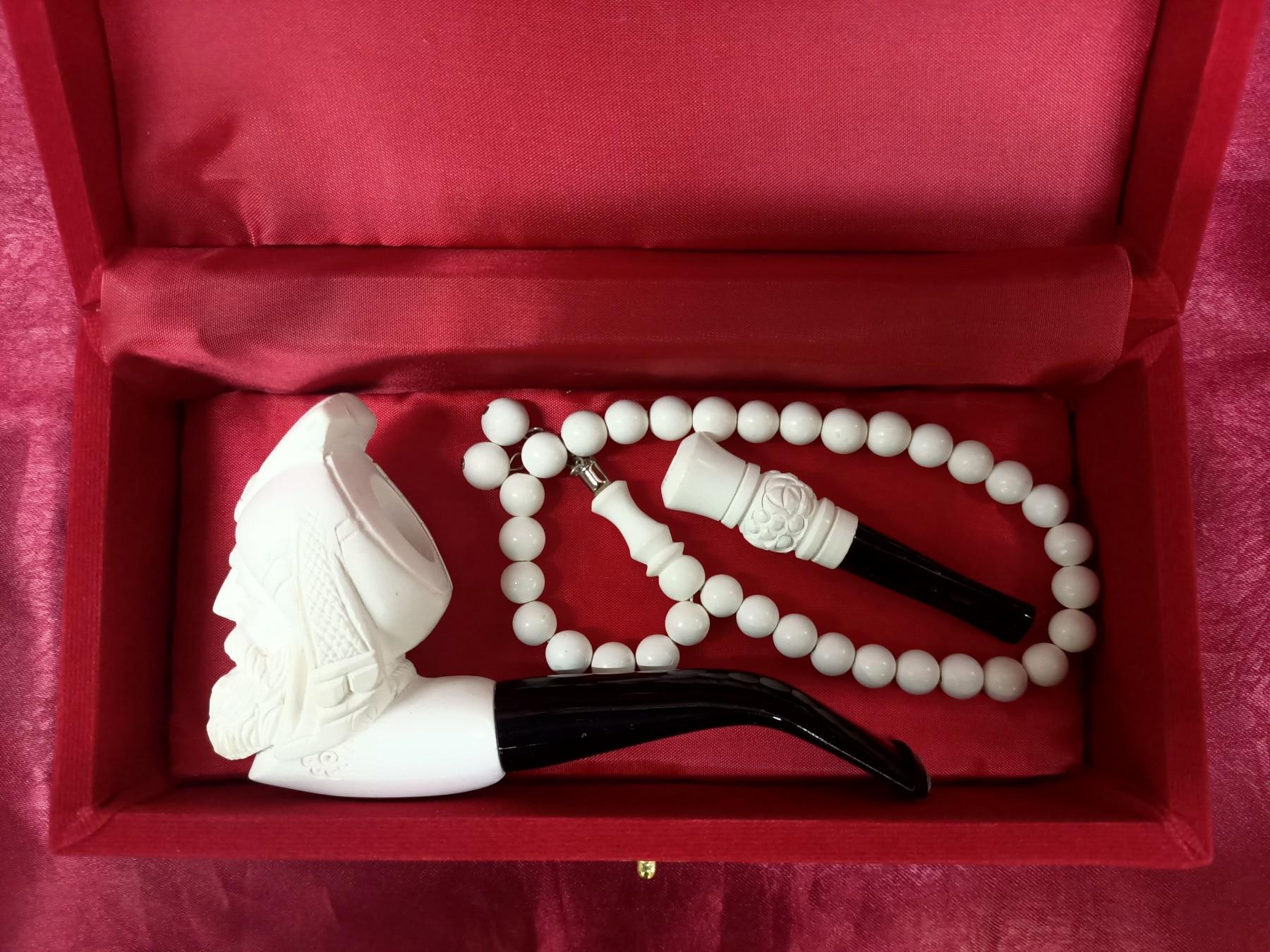 High Quality Meerschaum Set Master Made Smoking Tobacco Pipe New Cigar Sepiolite Best Gift for Friend Eskisehir made in Turkey