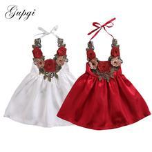 Pudcoco bébé fille robe 2017 mignon enfant en bas âge enfants bébé filles fête fleur robe dété formelle 3d robes vêtements 0-5Y