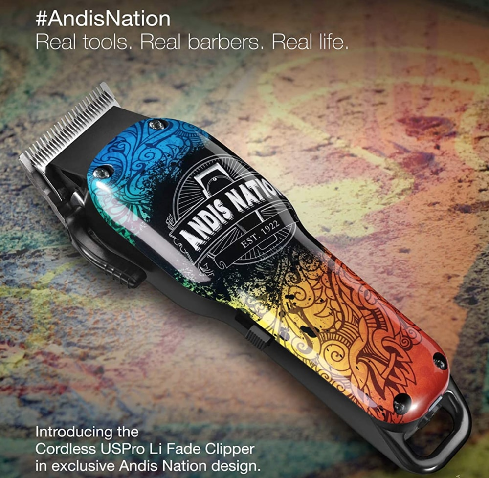 Andis Nation USPro Fade Li Strong Professional Cord/Cordless Clipper, Adjustable Blade Clipper, Trimmer, Shaver Hair Cut Machine enlarge