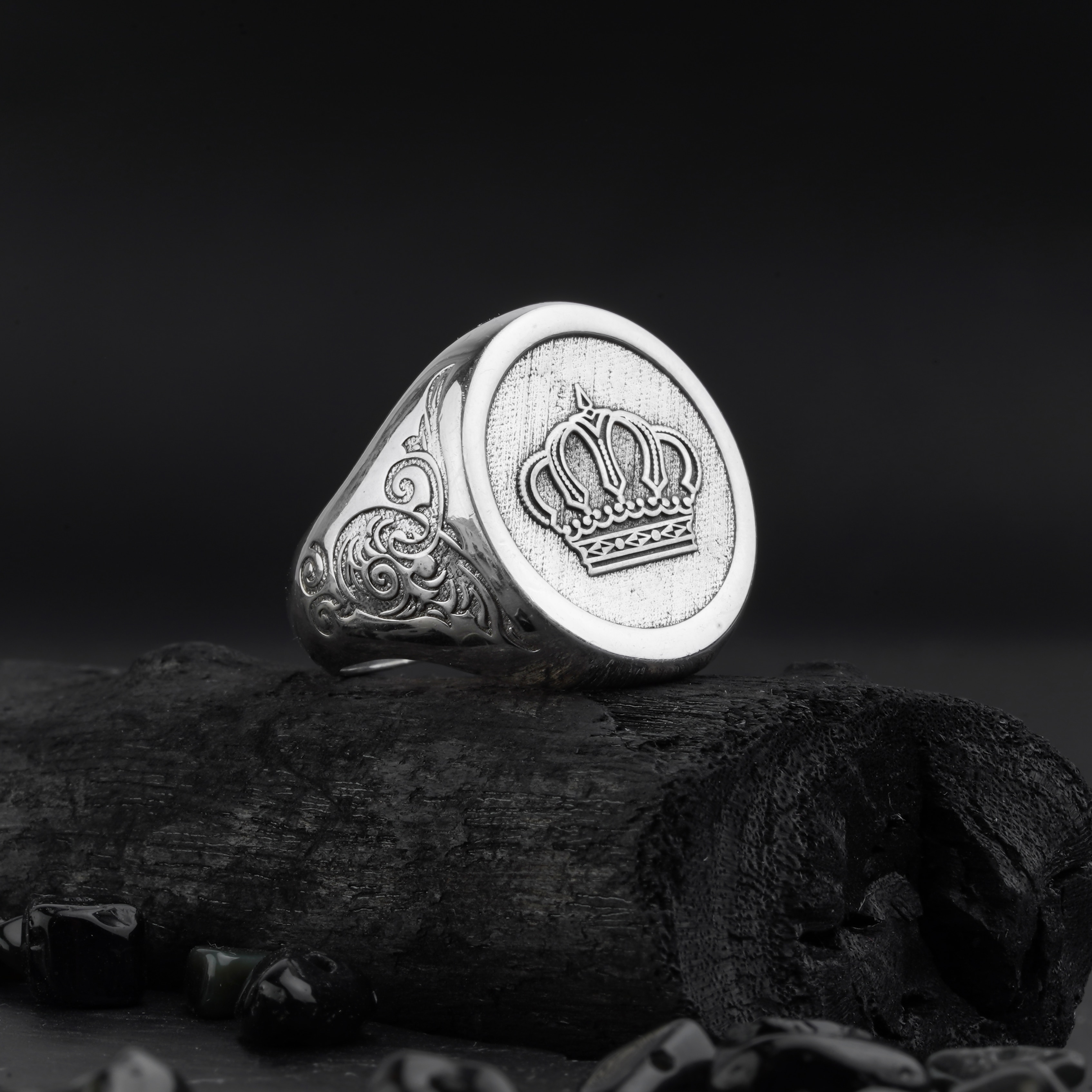 925 Sterling Silver ring custom design name and pattern  Jewelry Made in Turkey in a luxurious way for men with gift High-qualit