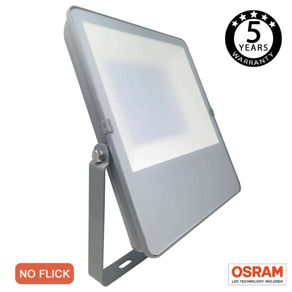 FactorLED 100W Foco Exterior Led Osram chip, Floodlight, Proyector Led IP65, iluminación profesional para jardín, patios, campos