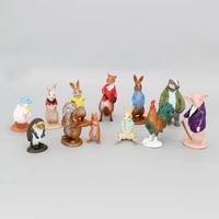 12pcsset kawaii animal dolls cake decorative ornaments micro landscape decoration childrens toy gifts y460
