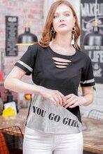 Retro colar laser cut silver foil blocky slogan printed T shirt