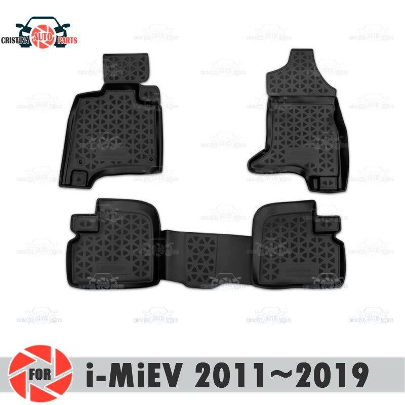 Alfombrillas para Mitsubishi i-miev 2011 rugs 2019 alfombras antideslizantes de poliuretano protección contra la suciedad accesorios de diseño para el interior del coche