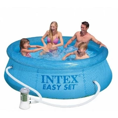 Intex 54912 (24476 76 Cm) + la bomba. Piscina inflable conjunto fácil piscina