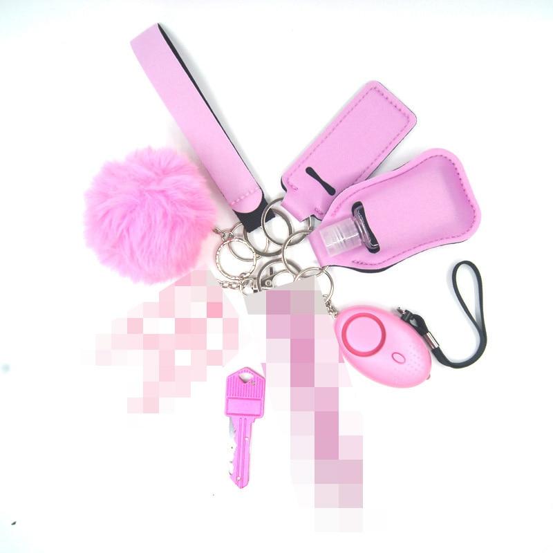 الدفاع الذاتي المفاتيح نافذة حلقة مكافحة القتال بقاء النساء أداة حلقة سلاسل المفاتيح