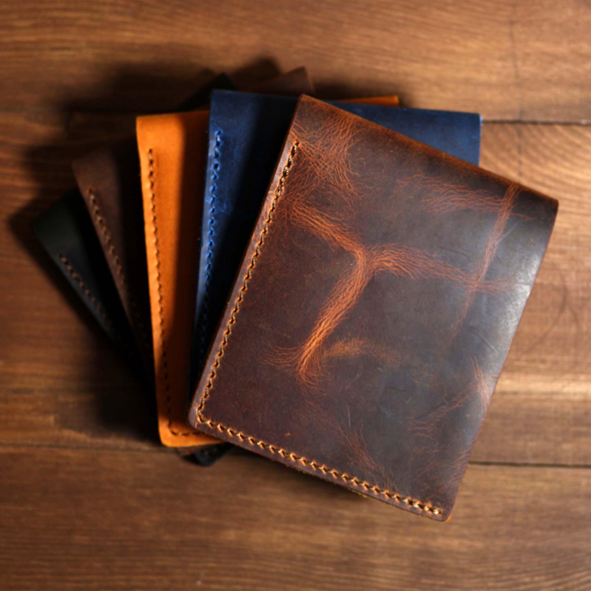 Valuaes Neretva اليدوية الكلاسيكية محفظة جلد طبيعي مرقع 2021 قمة الموضة جودة حامل بطاقة محفظة الذكور مخلب خمر