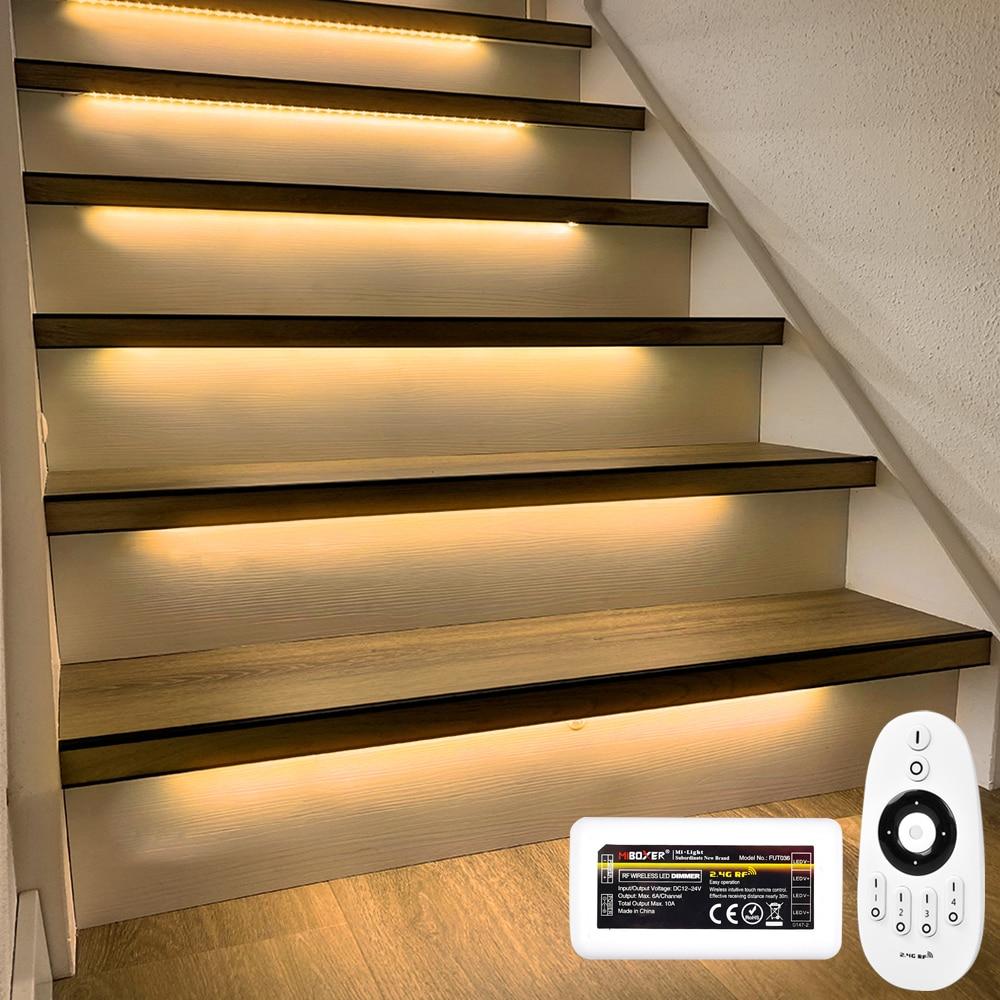 15 Steps Warm White 1.3M Stair lighting Strip-Plug and Play enlarge