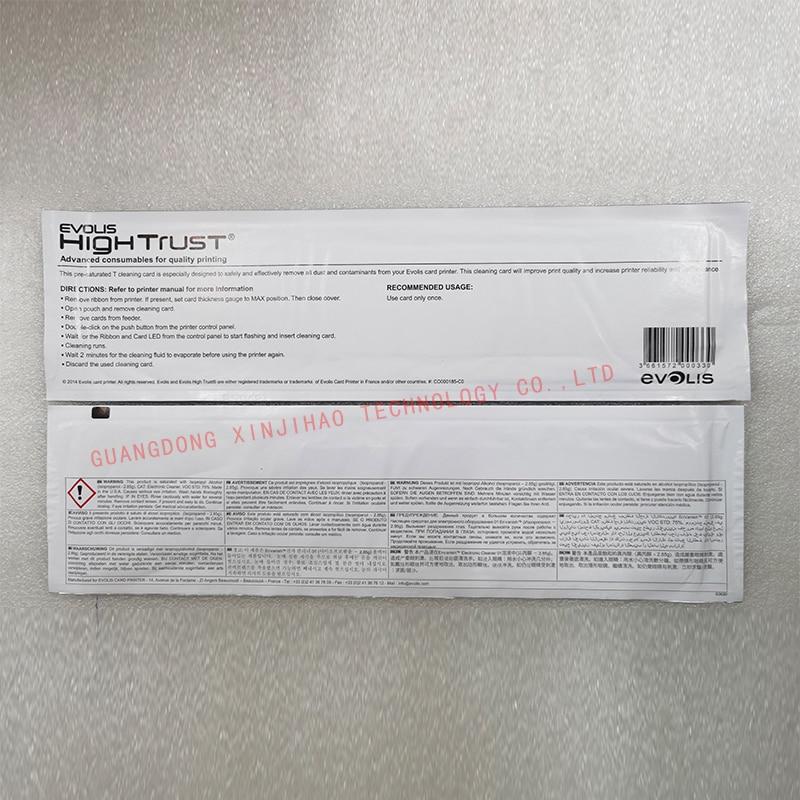 Evolis Primacy/Zenius/Elypso/KC200B/Issengo/EDIKIO FLEX/EDIKIO DUPLEX Card Printer ACL004 Cleaning Kit/cleaning card