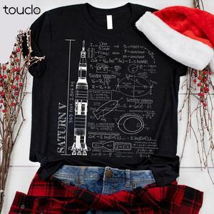Saturn V Saturn 5 Rocket Science Equations Gift Christmas T-Shirt