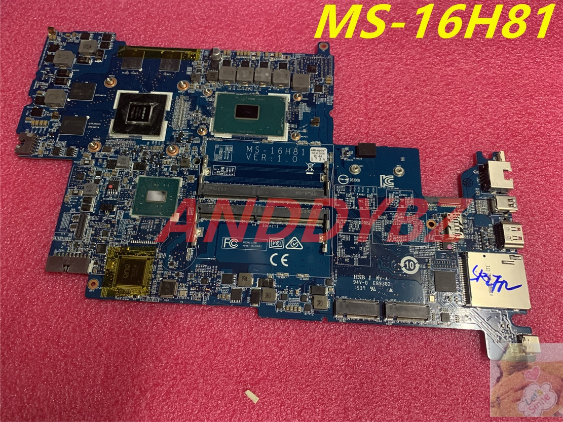 MS-16H81 VER 1.0 ل MSI GS60 WS60 اللوحة الأم للكمبيوتر المحمول مع وحدة المعالجة المركزية E3-1505M و M2000M 100% العمل OK