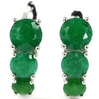 20x18mm jazaz lovely cute 4 7g real green emerald created pink tourmaline ear stud for girls 925 solid sterling silver earrings