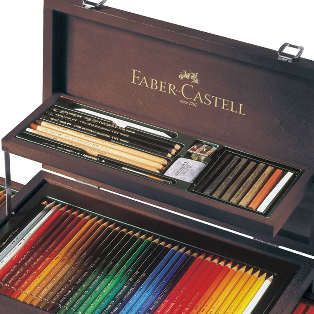 Faber-Castell Art & Graphic Collection Wooden Case, 120 pieces enlarge