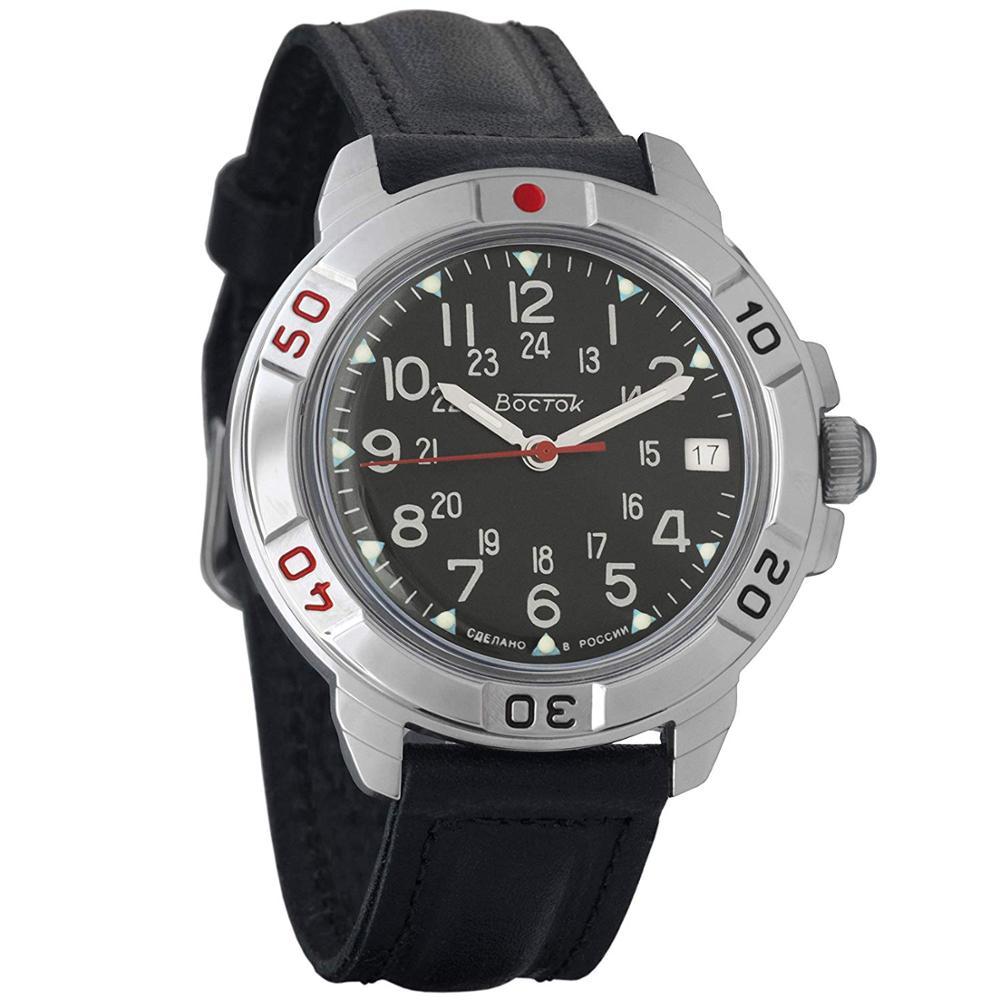 Ver Vostok Komandirskie 431783 hombres mecánicos reloj militar cuerda manual dial negro