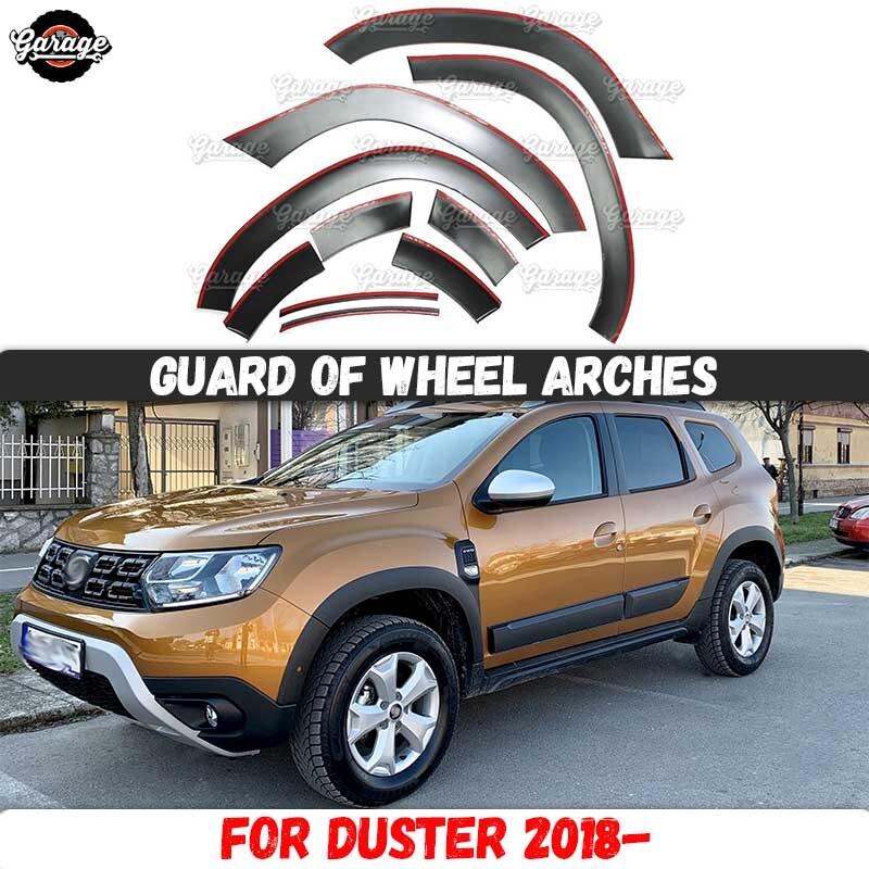واقي أقواس العجلات لـ Dacia Duster 2018- / Renault Duster 2021-بلاستيك ABS بما في ذلك ملحقات 10 p ، خدوش واقية