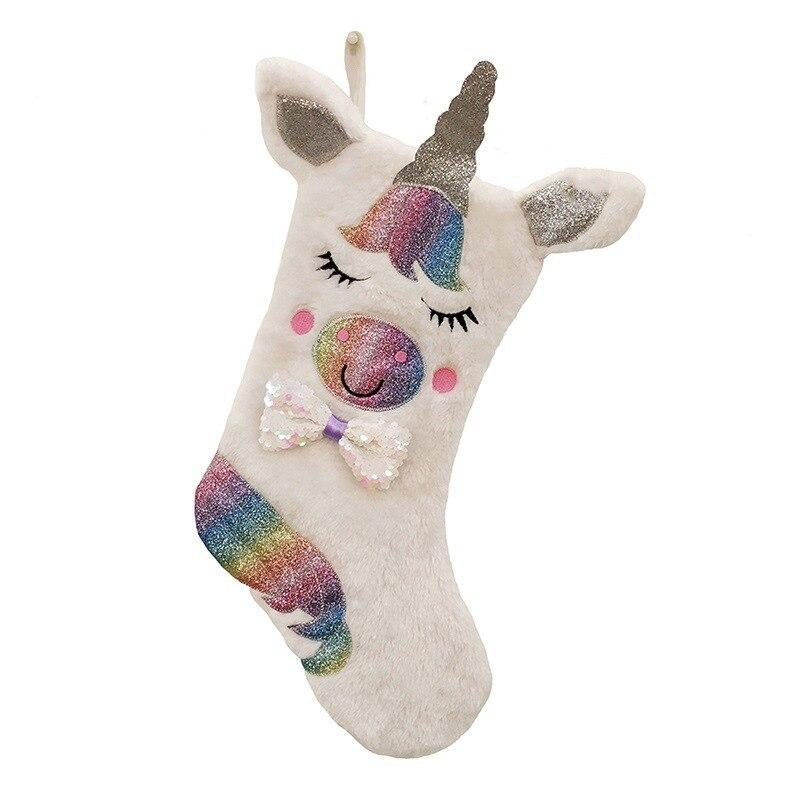 Novo design pingente de natal pendurado ornamentos meias árvores de natal saco de meia saco de doces presente de festa de natal luminosa novidade meias