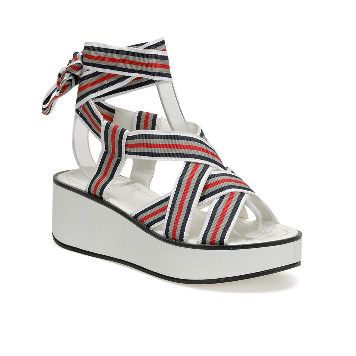 FLO White Women Sandals Summer Sandals Slip-on Wedge Ladies Sandals Comfy Wedge Female Shoes Fashion Breathable Girls Sandals Art Bella CS19136