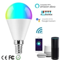 E14 E27 B22 Led Smart light Bulb RGB C Wifi Bulbs Compatible with GoogleAssistant Alexa Voice Control Dimmable Lamp for Lighting