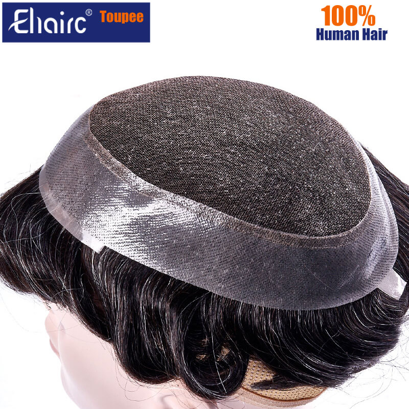 Australia Toupee Men Hotselling Lace PU Base Wig For Men Natural Hairline Replacement System Unit For Men Male Hair Prosthesis