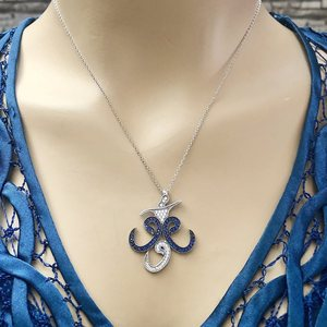 925 Sterling Silver Necklace Women Girls Gift Jewelry Accessories Fashion Handmade Elegant Chain