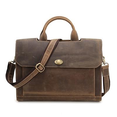 موضة جديدة جلدية حقيقية الذكور حقيبة ساعي عادية حقيبة تصميم 11
