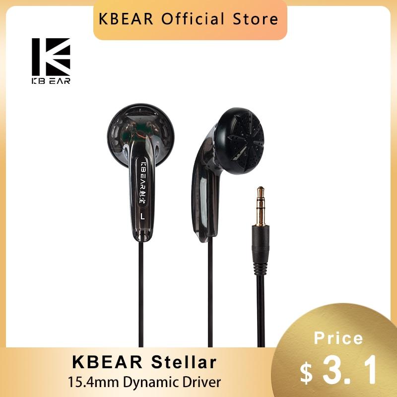 KBEAR Stellar HIFI 15.4mm Dynamic Driver In Ear Monitor Earphone Japanese PPS Flat Headset Music Gam