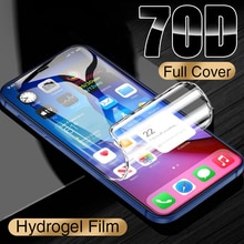 70D Full Cover Hydrogel Film On For iPhone 7 8 Plus 6 6s Screen Protector 11 12 Pro mini XR X XS Max