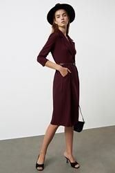 Trendyol vestido arqueado twoaw21el1363