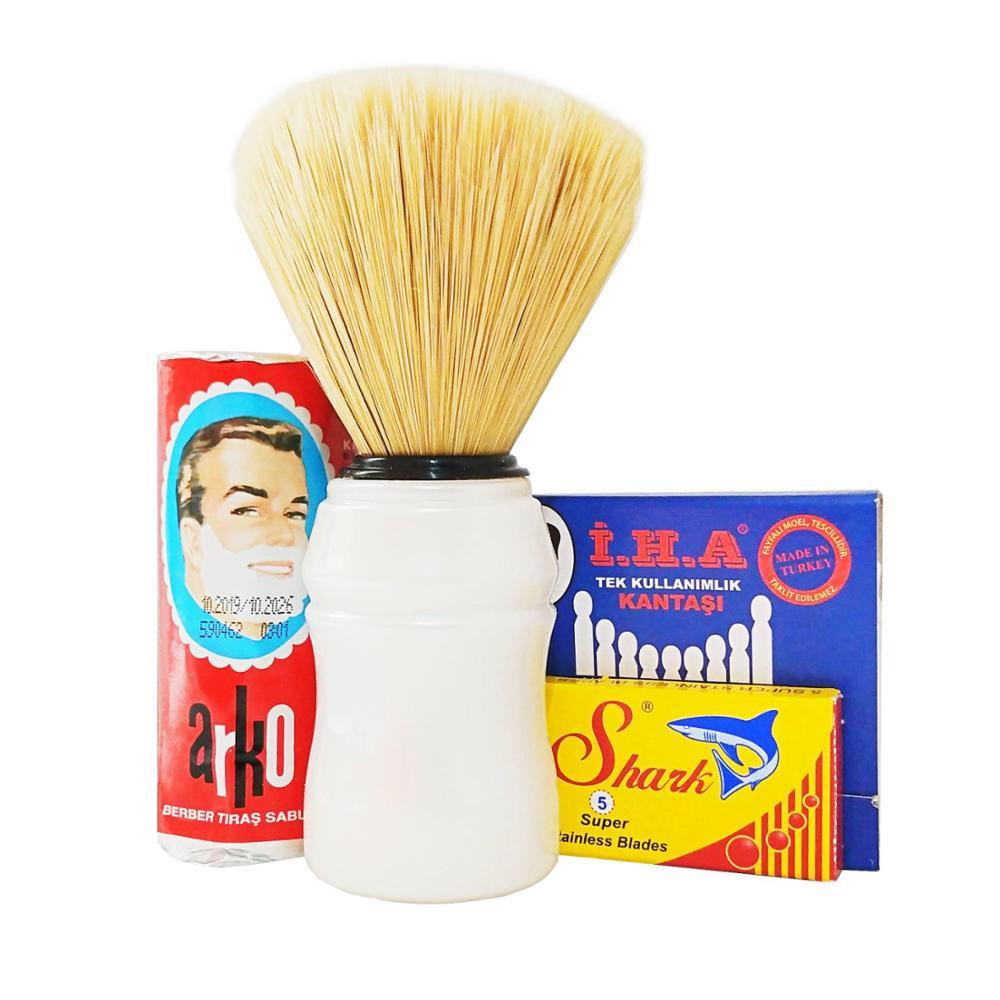 Arko Мыло для бритья, щетка, Акула 5 лезвий, набор для бритья с пробкой